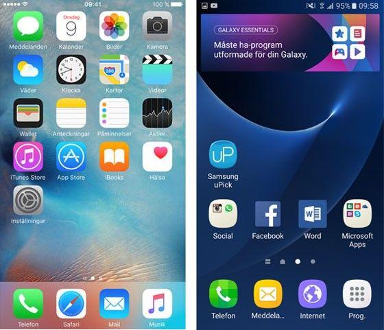 Android 6 och IOS 9