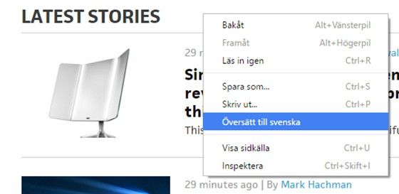 1 Översätt. När du befinner dig på en webbsida på ett annat språk b9d1844fb419c