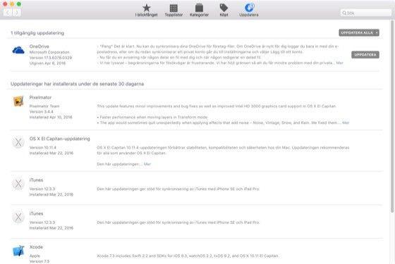 Håll Macen uppdaterad