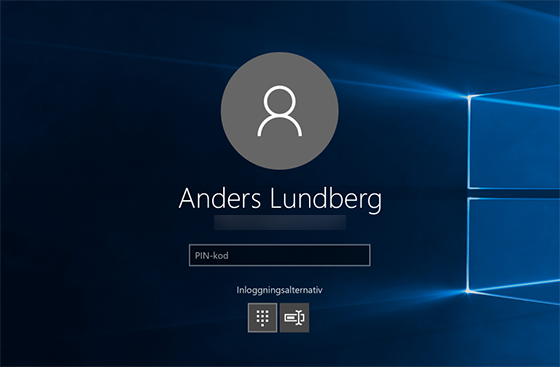 windows 10 kan inte logga in