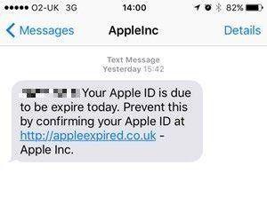 Phishing-meddelande