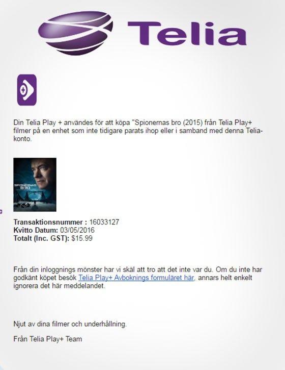 Telia phishing