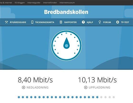 kolla hastigheten på ditt bredband