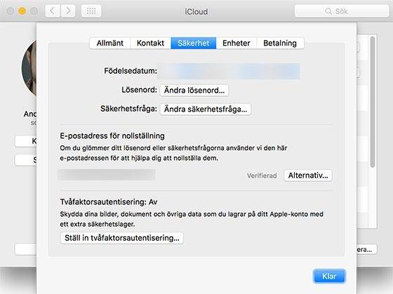 Aktivera påMac