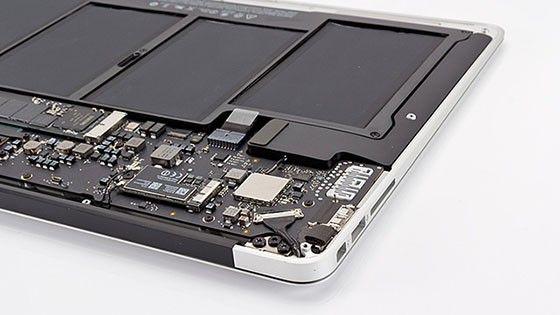 Macbook på insidan