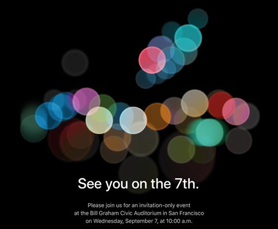 Apples inbjudan till 7 september