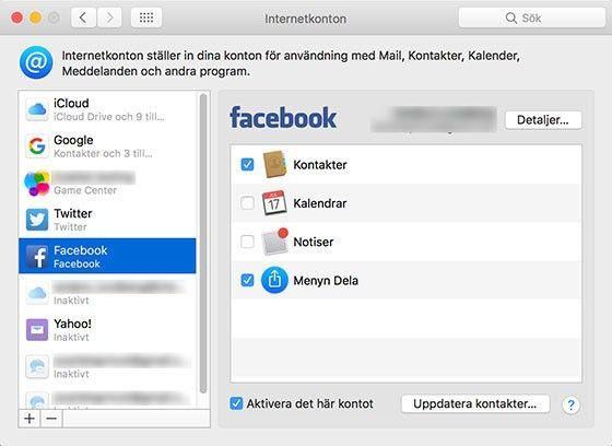 Fixa strulande Facebook-kontakter