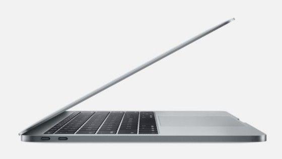 Nya Macbook Pro från sidan.