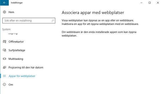 Appar för webbplatser