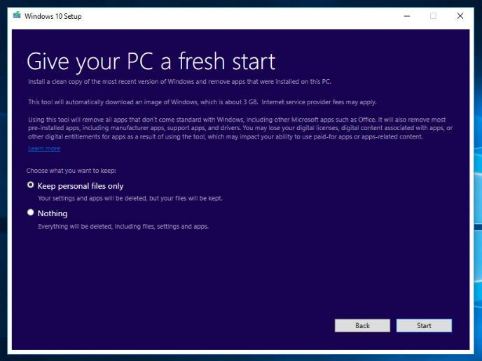 Hur man laddar hem en ren windows 10 installation