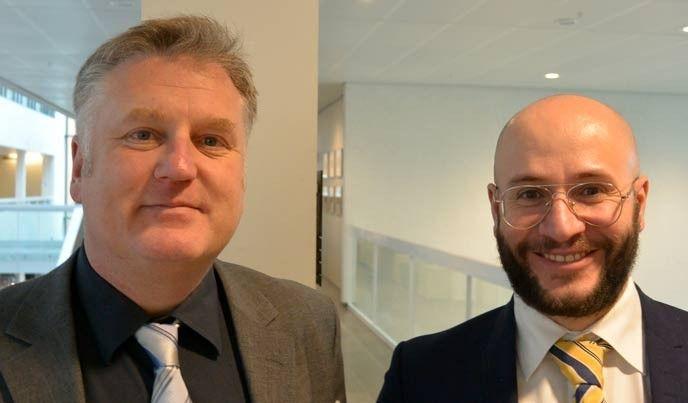 Roland Heickerö, MSB, och Gazmend Huskaj, Stockholms universitet.