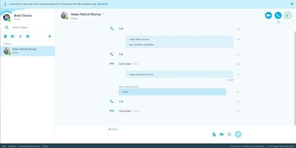 Skype for the Web