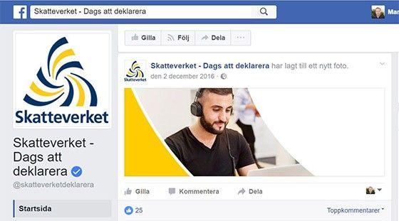 Skatteverket Facebook