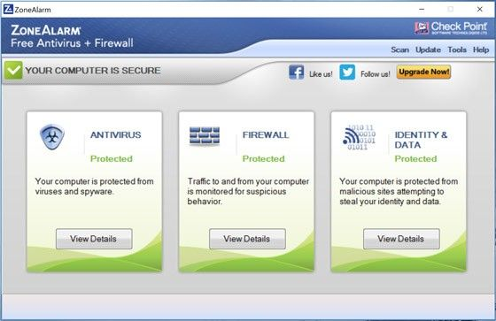 ​​​Check Point Zone Alarm Free Antivirus + Firewall