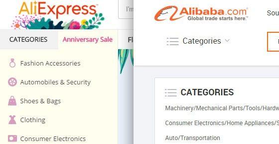 Alibaba och Ali Express