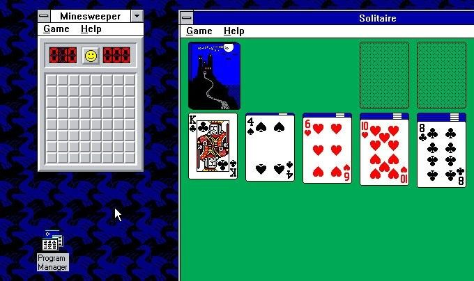 Minesweeper och Solitaire