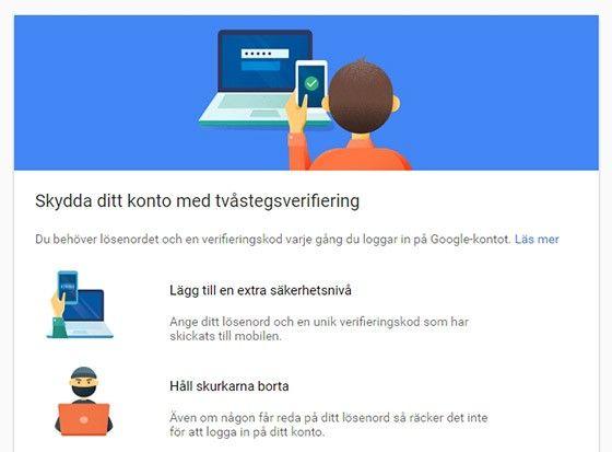 Du kan öka säkerheten i Google Drive med en engångskod via mobilen.