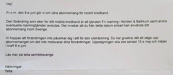 Telia brev
