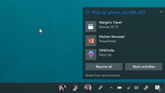 Windows 10 Pick up where you left