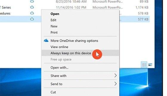 Windows 10 Onedrive