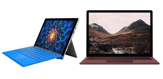 Surface Pro och Surface Laptop