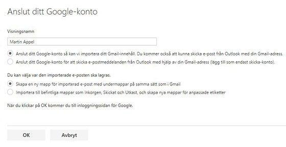 Lägg till Gmail