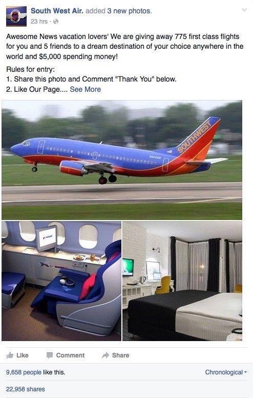 Gratis flygbiljetter?