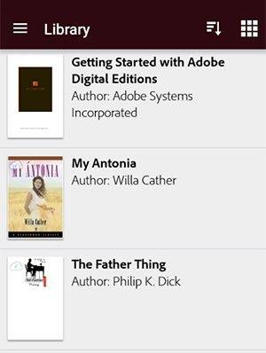 Adobe Digital Editions finns även som app.