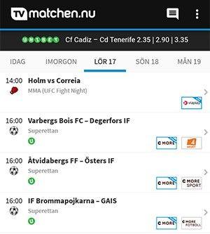 TVmatchen.nu