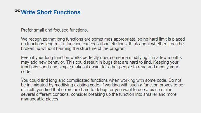 Googles stilguide för C++