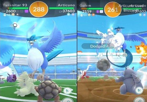 En legendarisk raid-strid i Pokémon Go