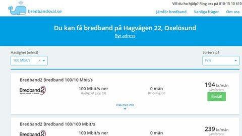 sveriges billigaste bredband