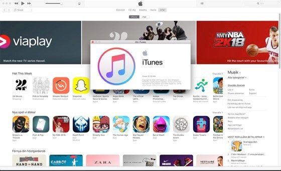 Itunes kan fortfarande visa App Store