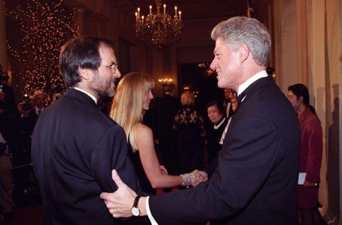 Jobs och Clinton