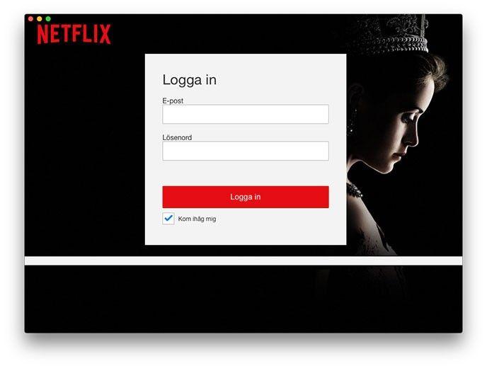Netflix-app till Macen