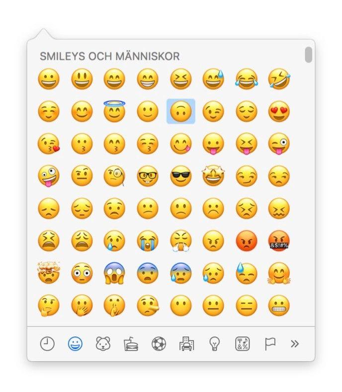 Emoji på Mac