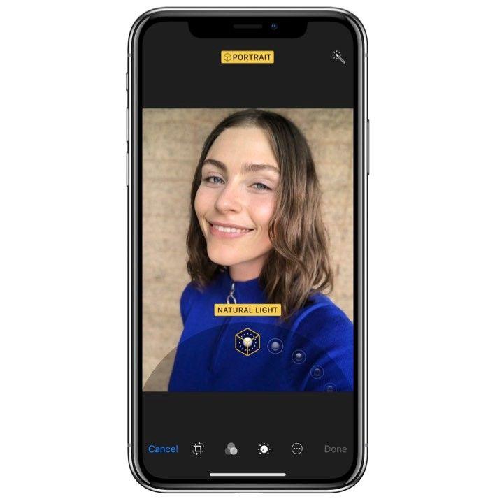 Selfie med Iphone X