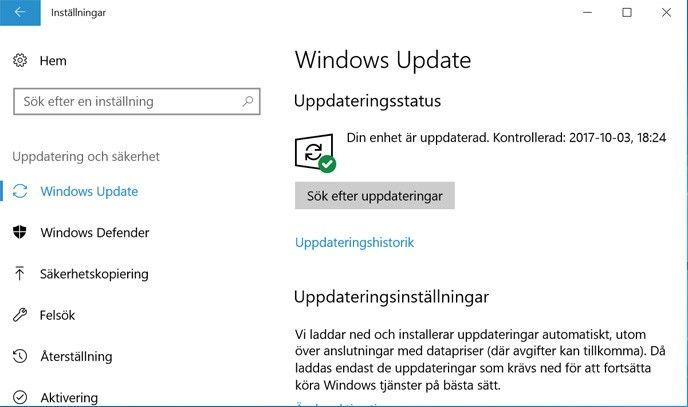 Automatisk uppdatering