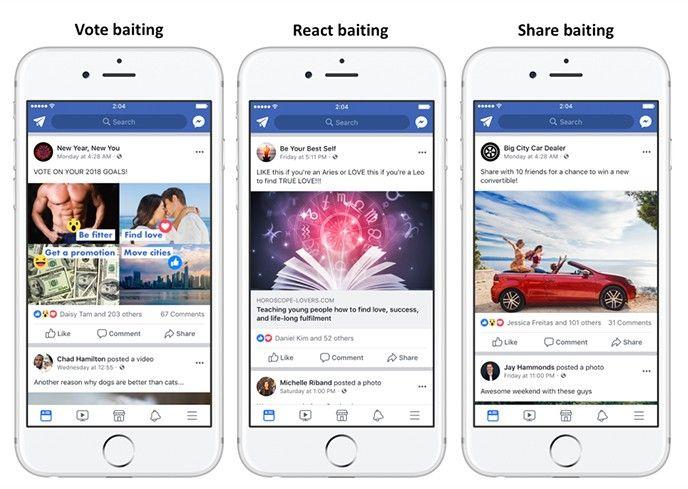 Facebook baiting