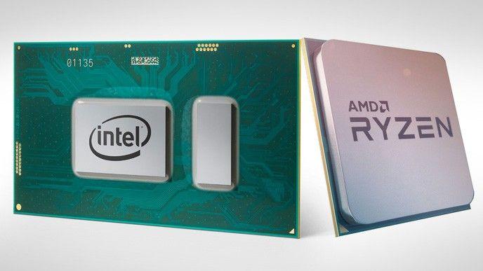 Intels i7-8650U och AMD:s Ryzen 7.