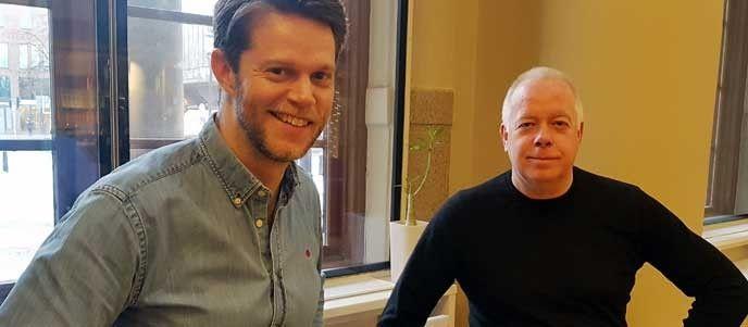 Håkan Östlund och hans kollega Elias Arnestrand, tjänsteansvarig för Trafiklab