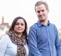 Jenny Sander och Fredrik Sandin.