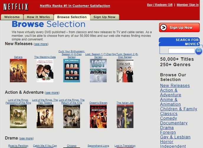Netflix 2005