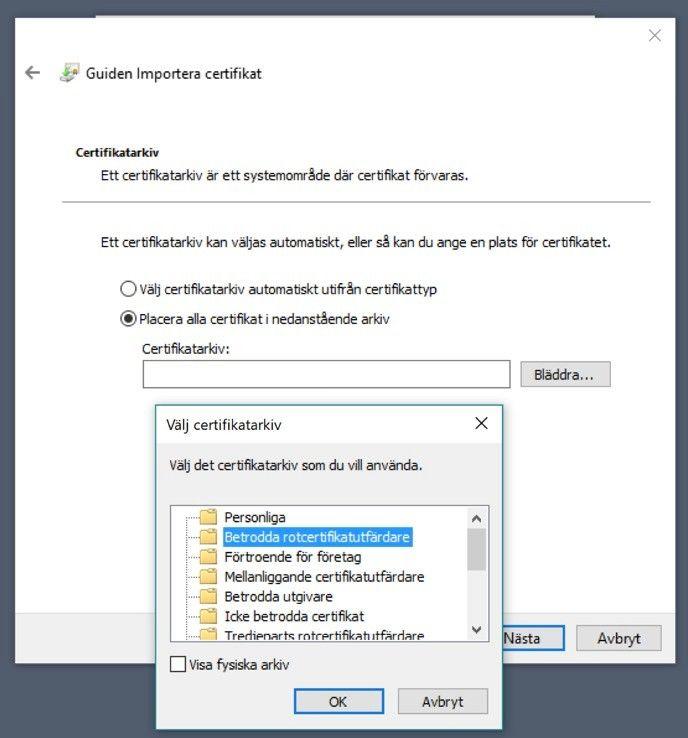 Installera certifikat för din ikev2-vpn