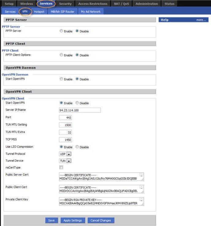 Openvpn på router med Dd-wrt
