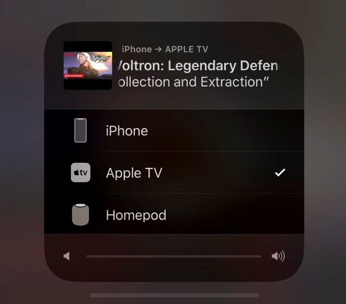 Airplay till Apple TV