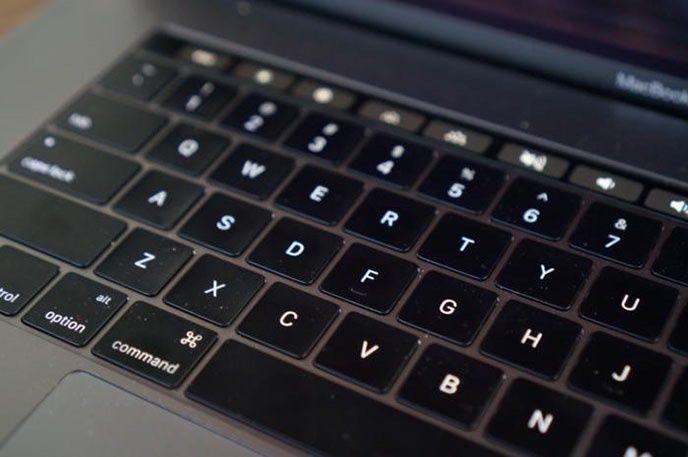 Tangentbordet på Macbook Pro