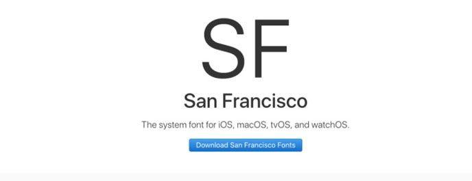 Apple typsnitt