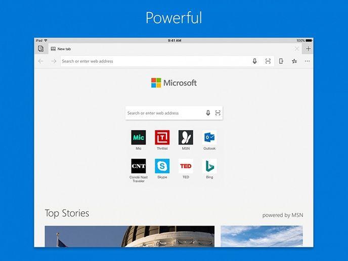 Microsoft Edge för Ipad