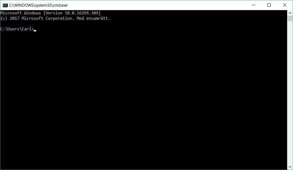 Kommandotolken Windows 10